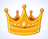 Golden Crown — Stock Vector