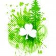 Stock Vector: ST. Patricks Clover collage