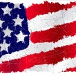 Royalty-Free Stock Vector Image: USA grunge flag