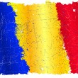 Romanian grunge flag — Stockvectorbeeld