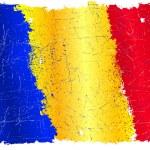 Romanian grunge flag — Stock Vector