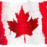 Флаг Канады гранж — Cтоковый вектор