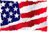USA grunge flag — Stock Vector