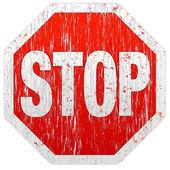 Grunge-stop-schild — Stockvektor