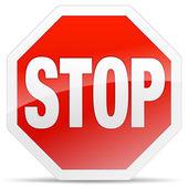 знак остановки — Cтоковый вектор