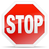 Stop Sign — Vetorial Stock
