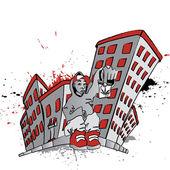 Ghetto Blunt Street — Stock Vector