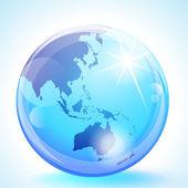 Asia Pacific Globe — Stock Vector