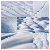 Snow collage — Stock Photo