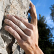 Stock Photo: Climbing on limestone