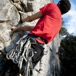 Climbing on limestone — Stock Photo