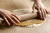 Mixing dough — Stock Photo