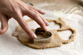 Making cookies — Stock Photo