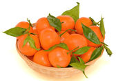 Basket of mandarins — Stock Photo