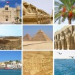 Egypt travel collage — Stockfoto