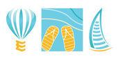 Logos for travel company — Stock Photo