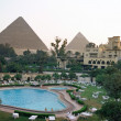 Royalty-Free Stock Photo: Egypt, Giza, Mena House Oberoi Hotel, pyramid