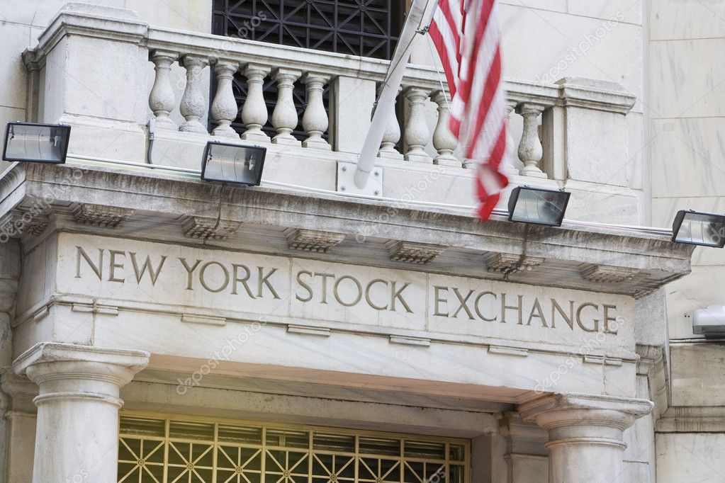 New York Stock Exchange in New York City — Stock Photo #10227276
