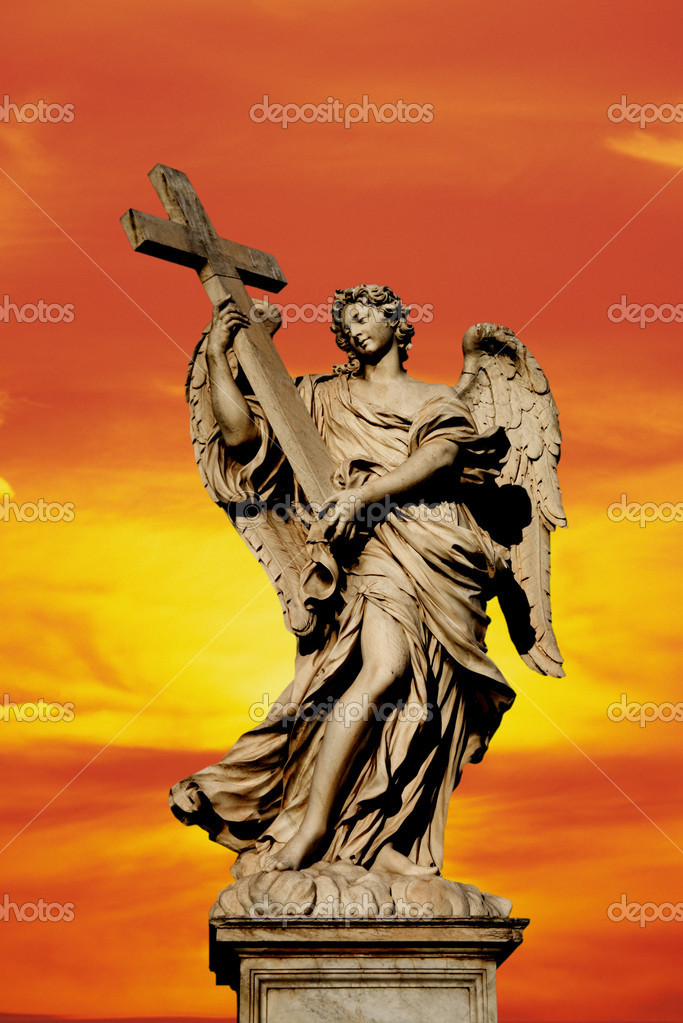 Angel statue in the city of Rome  Stock Photo #10697284