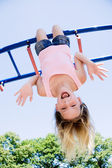 Girl playing in park — Stock Photo