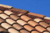 Terra Cotta Shingles on roof — Stock Photo