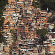Shacks in the Favellas, a poor neighborhood in Rio de Janeiro - Stok fotoğraf