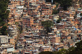 Shacks in the Favellas, a poor neighborhood in Rio de Janeiro — Stock Photo