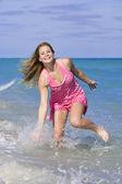 Teen on beach — Stock Photo
