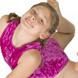 10 year old girl in gymnastics poses — Stock Photo #9743907