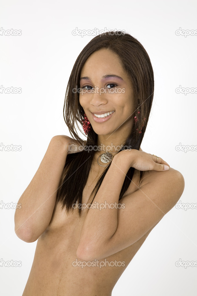 African American woman in early 20&#039;s doing glamour modeling  Stock Photo #9916011