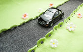 Toy car on the road. — Stock Photo