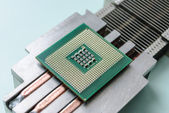 Passive cooling radiator with processor. — Stock Photo
