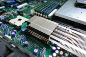 Server motherboard. — Stock Photo