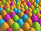 Lot of colorfull easter eggs — Stock Photo