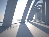 Modern architecture with pillars. — Stock Photo