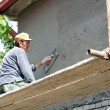 Stock Photo: Plasterer Working