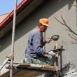 Worker Plastering Wall — Stock Photo #10155376
