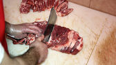Butcher At Work — Stock Photo