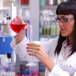 Scientist Woman With Chemicals - Foto de Stock