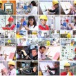 Professional Workers Collage - Stock Photo