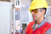 Portrait Of A Worker - Protecitve Work Wear — Stock Photo