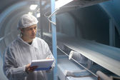 Refinaria de açúcar - inspetor de controle de qualidade — Foto Stock