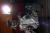 Professional Broadcast Video Camera In Studio — Stock Photo
