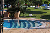 Luxury resort swimmingpool — Stockfoto