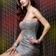 Brunette and silver dress — Stock Photo #9133939