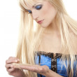 Beautiful blond woman — Stock Photo