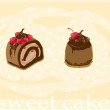 Sweet cakes - Stock Vector