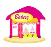 Illustratie van bakkerij winkel — Stockvector