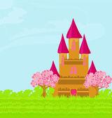 Magische sprookje prinses kasteel — Stockvector