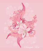 浪漫的花背景 — 图库矢量图片